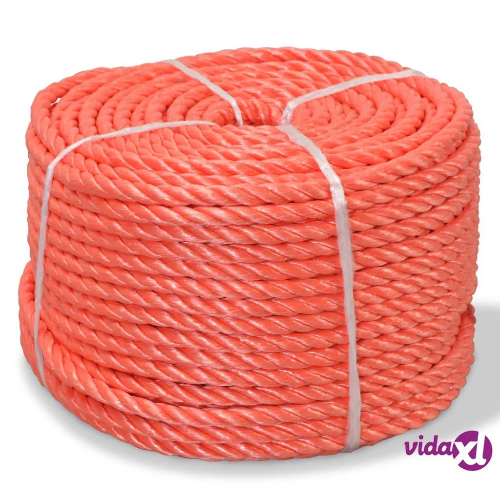 Image of vidaXL Punottu Köysi Polypropeeni 8 mm 500m Oranssi
