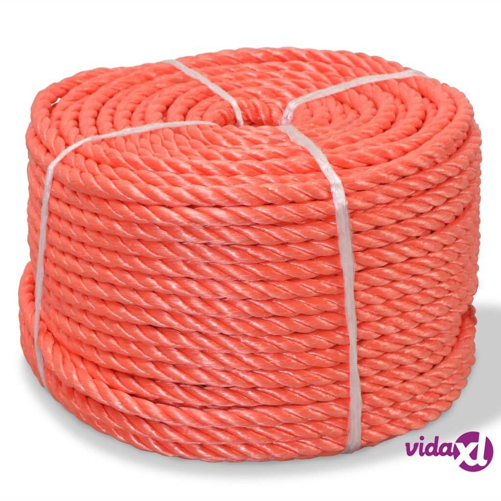 Image of vidaXL Punottu Köysi Polypropeeni 12 mm 250m Oranssi