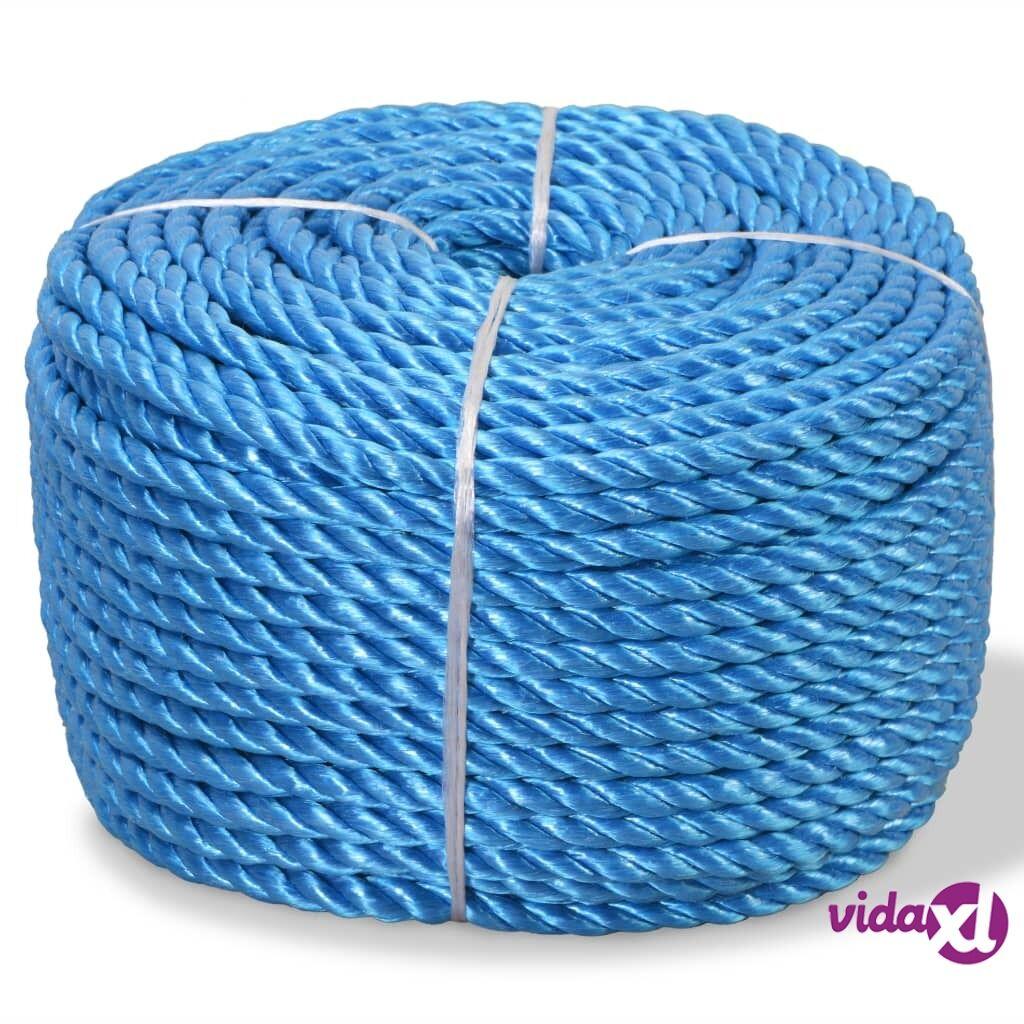 Image of vidaXL Punottu Köysi Polypropeeni 10 mm 250m Sininen