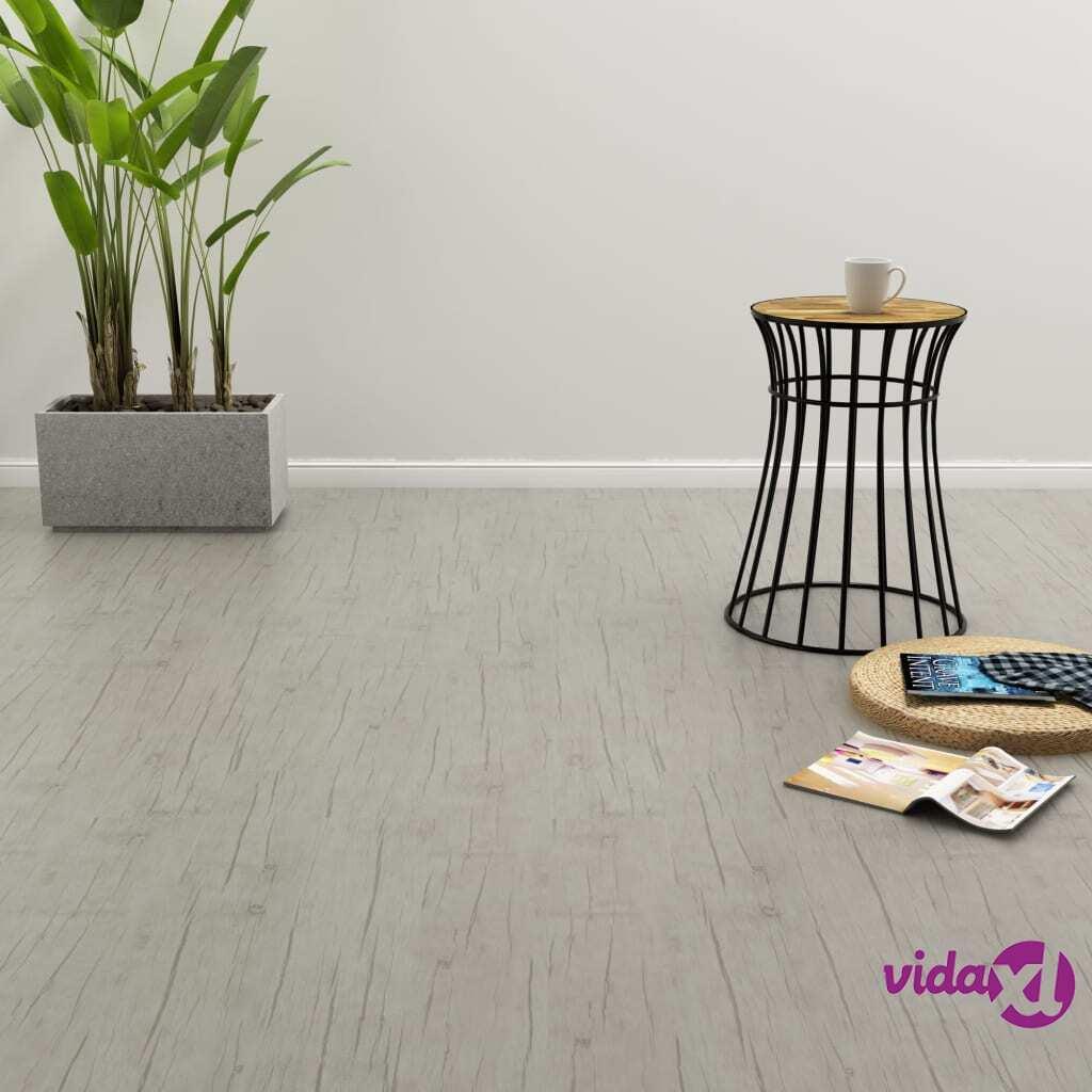 Image of vidaXL Itsekiinnittyvä lattialankku 4,46 m² PVC tammi kulunut