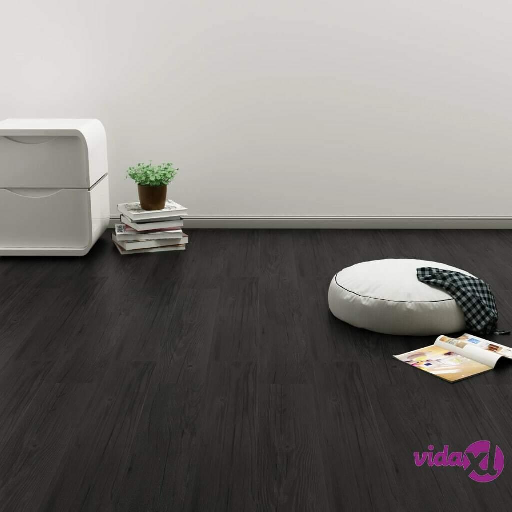 Image of vidaXL Itsekiinnittyvä lattialankku 4,46 m² PVC antrasiitti