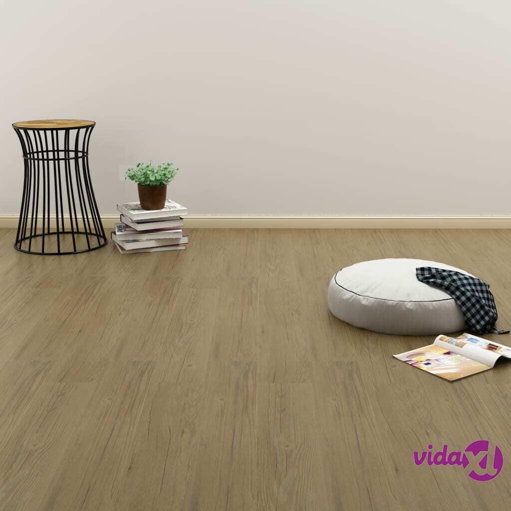 Image of vidaXL Itsekiinnittyvä lattialankku 4,46 m² PVC luonnollinen ruskea