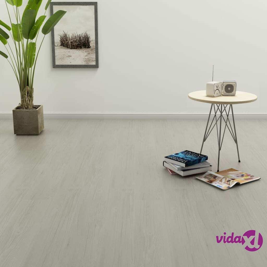 Image of vidaXL Itsekiinnittyvä lattialankku 4,46 m² PVC vaaleanharmaa