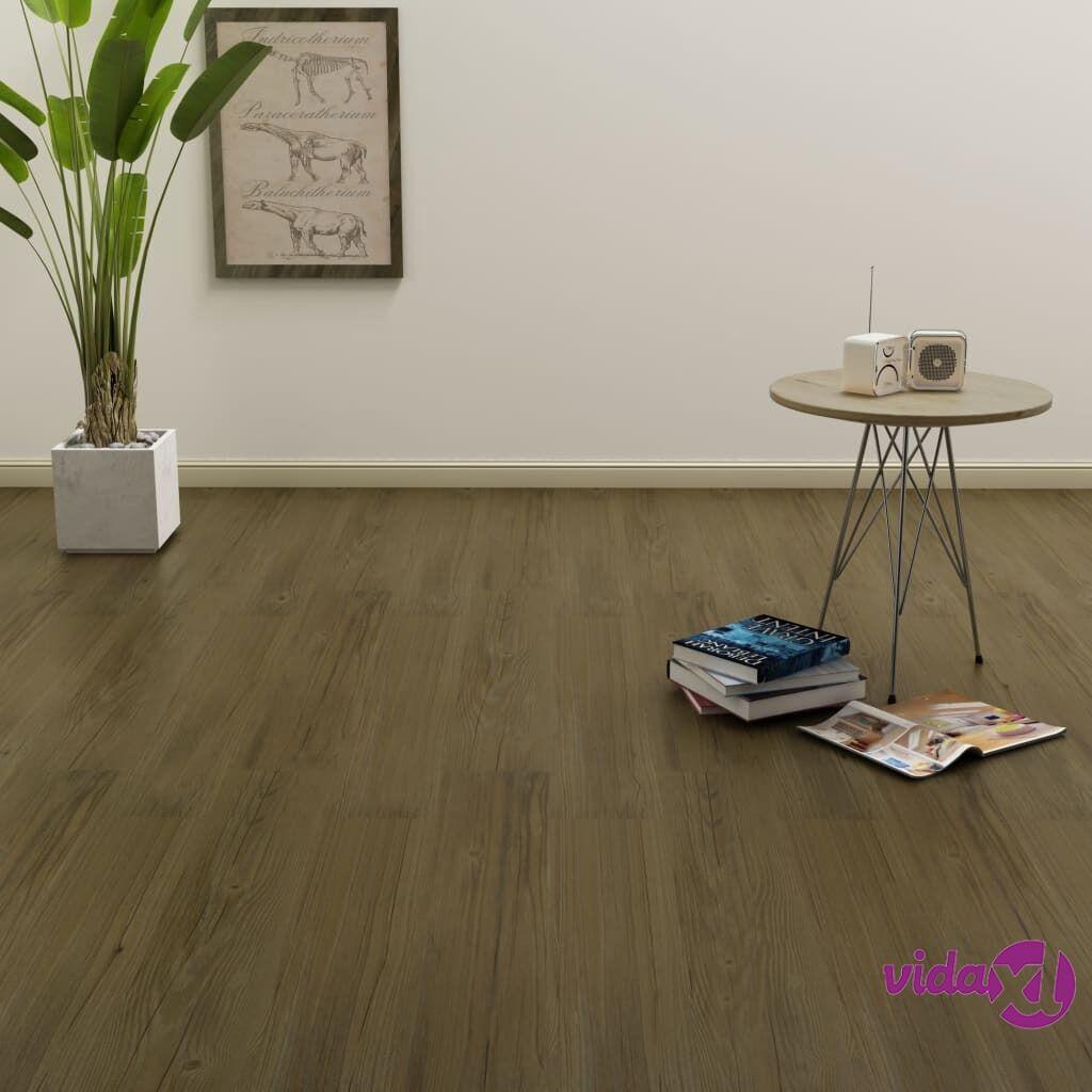 Image of vidaXL Itsekiinnittyvä lattialankku 4,46 m² PVC ruskea