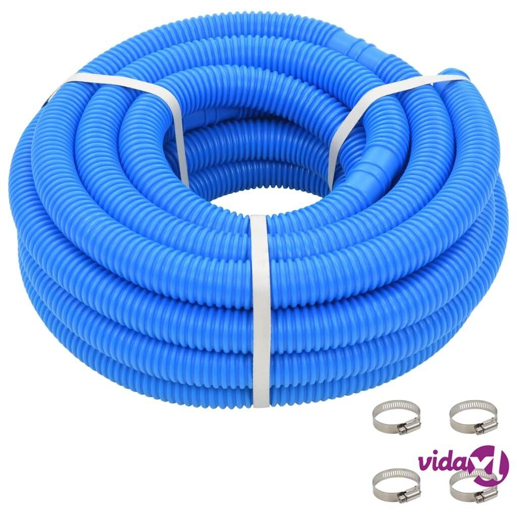 vidaXL Uima-altaan letku kiinnikkeillä 38 mm 12 m sininen