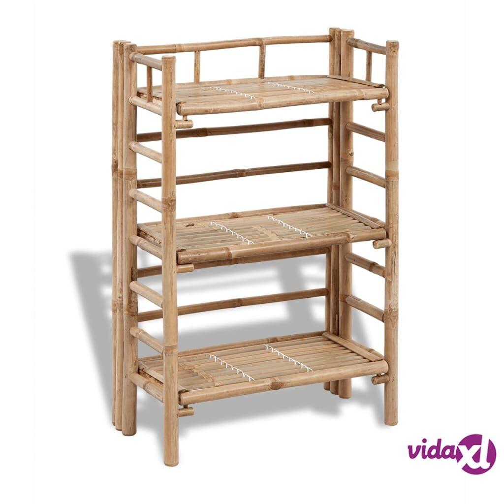 Image of vidaXL 3-kerroksinen Bambu Kukkateline