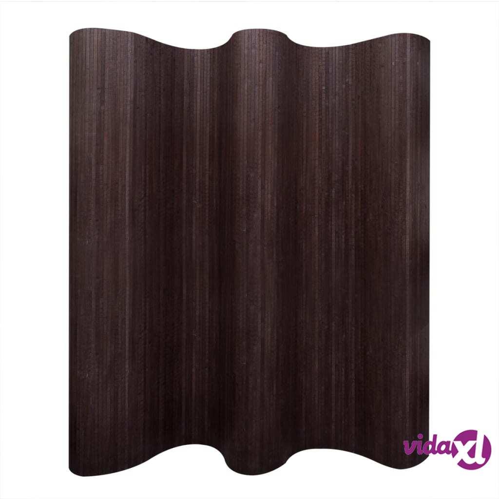Image of vidaXL Tilanjakaja bambu 250x195 cm tummanruskea