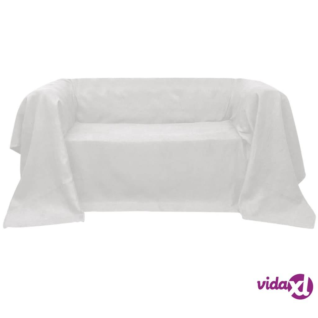 vidaXL Mikrokuitu sohvan suojapäällinen Kerma 140 x 210 cm