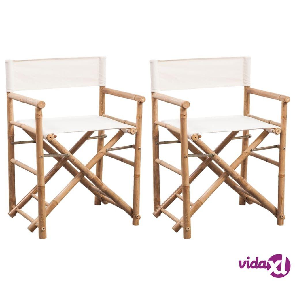 Image of vidaXL Kokoontaitettava ohjaajantuoli 2 kpl bambu ja kangas