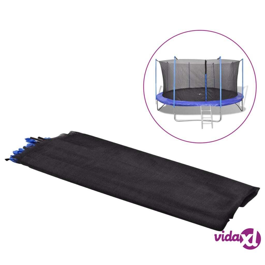 vidaXL Turvaverkko pyöreälle 4.57 m trampoliinille PE Musta