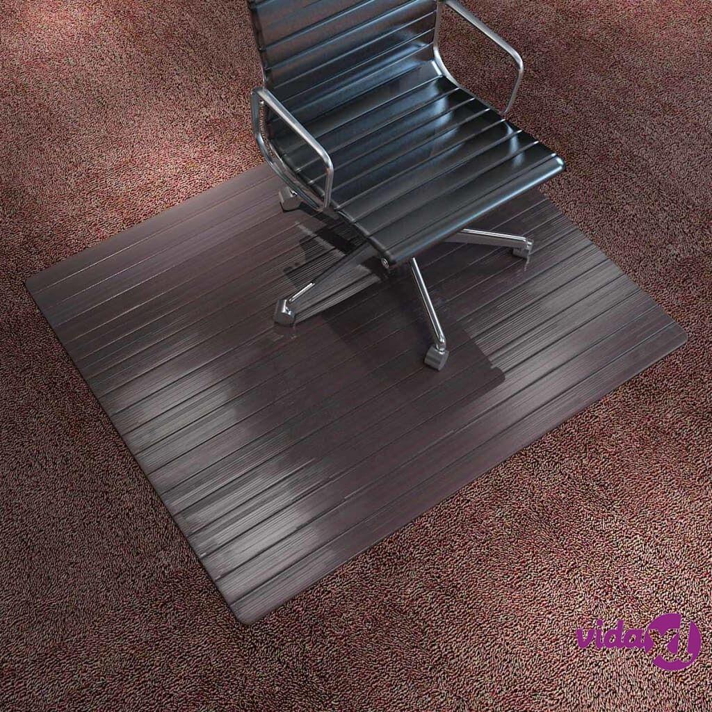 Image of vidaXL Tuolimatto/lattian suojamatto bambu 90x120 cm Ruskea
