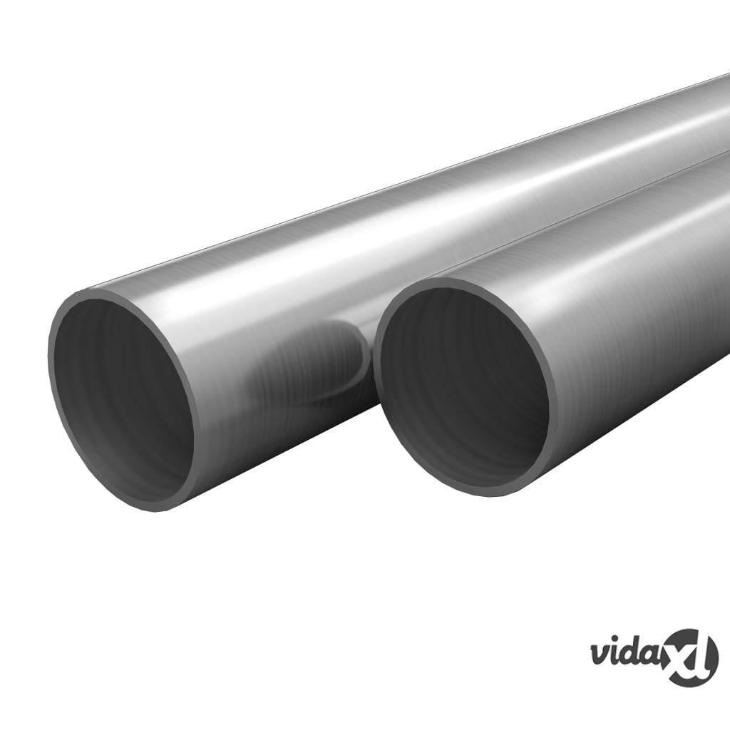 vidaXL Putket ruostumaton teräs 2 kpl pyöreä V2A 2m Ø12x1,45mm
