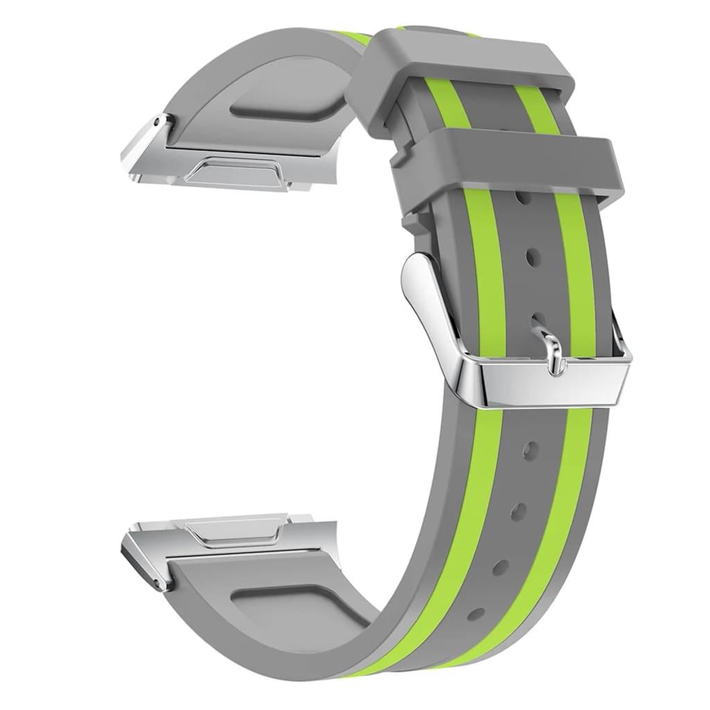 eStore Klockarmband till FitBit Ionic av silikon - Grå och Grön