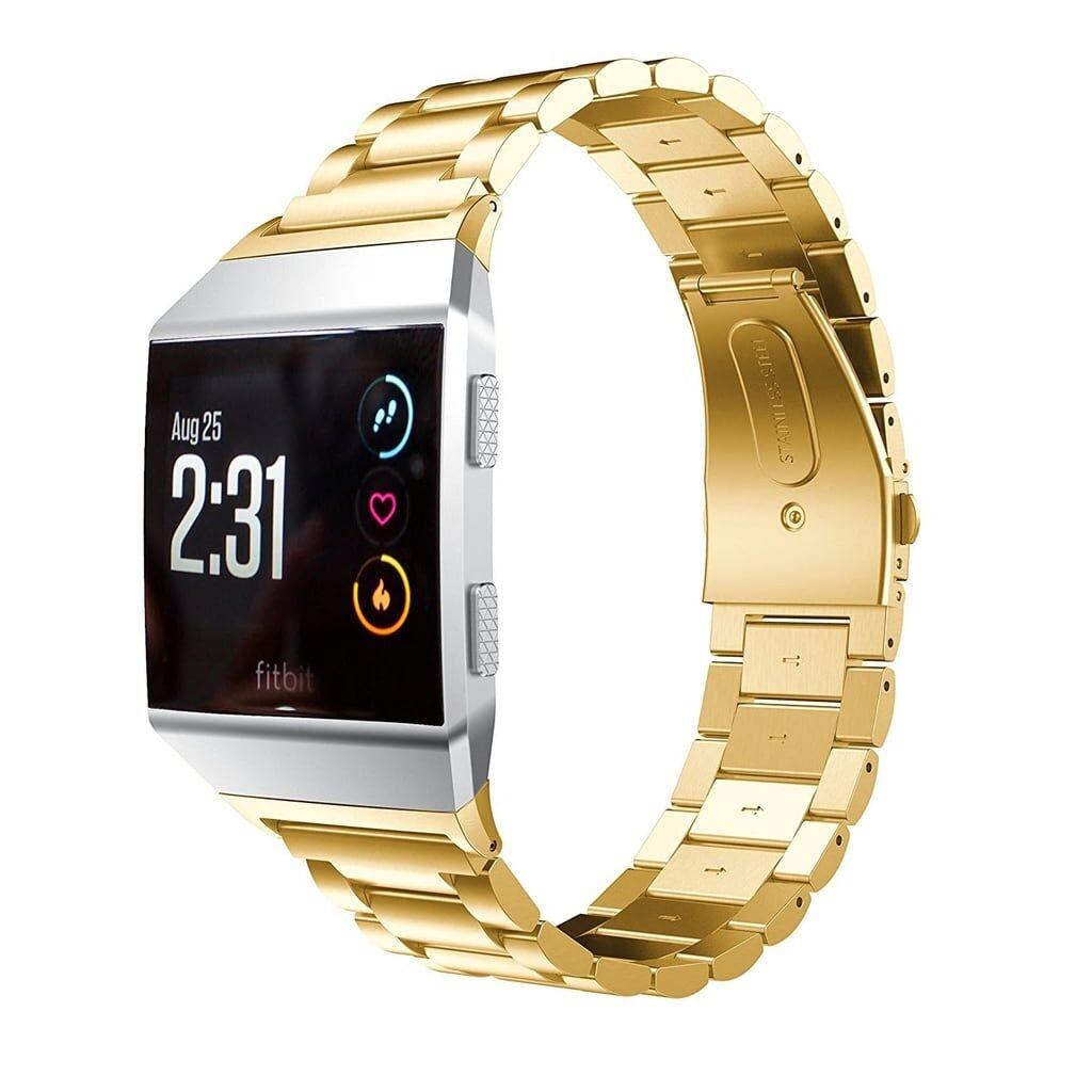 eStore Klockarmband till FitBit Ionic i rostfritt stål - Guld