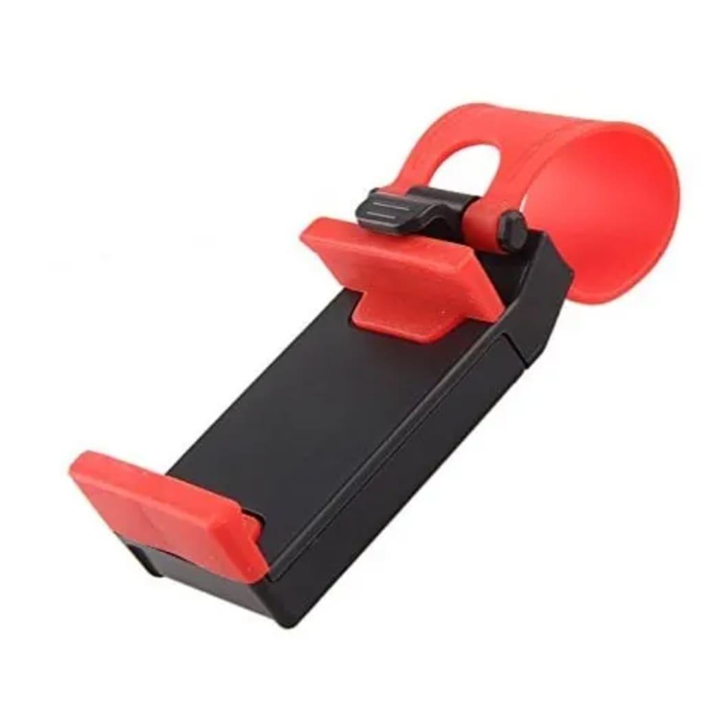 eStore Kännykkäteline rattiin - Musta ja Punainen
