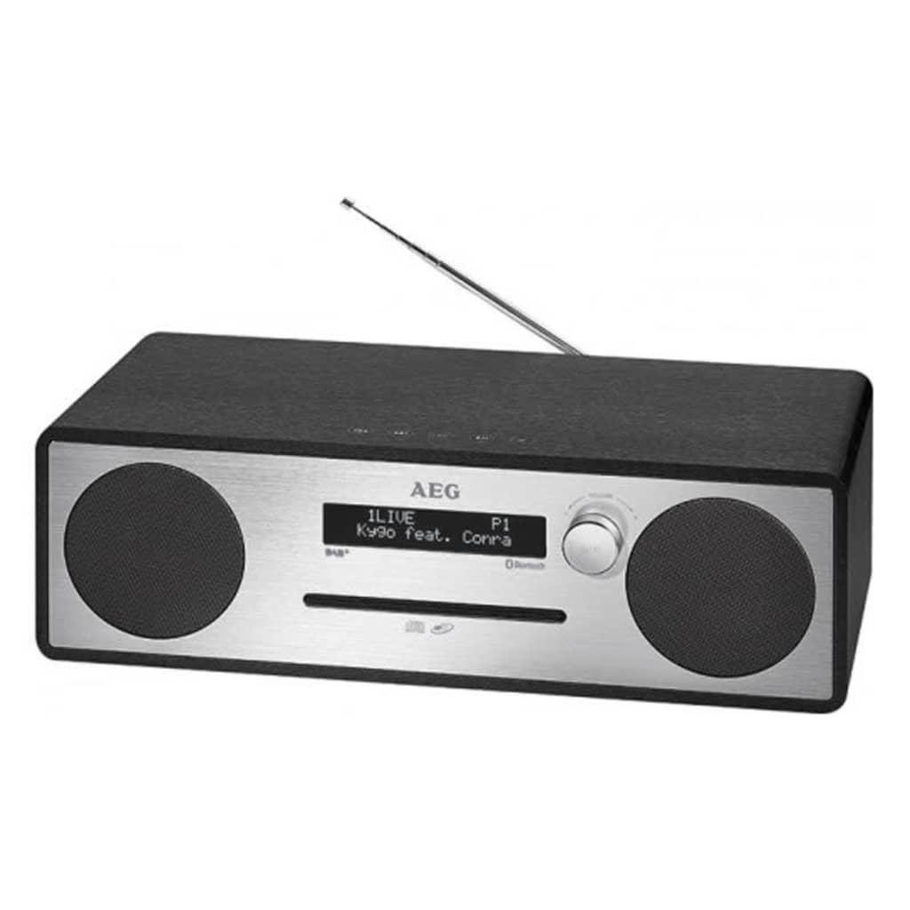 AEG 411051  DAB + Musiikkitalon MC 4469 musta 20 W
