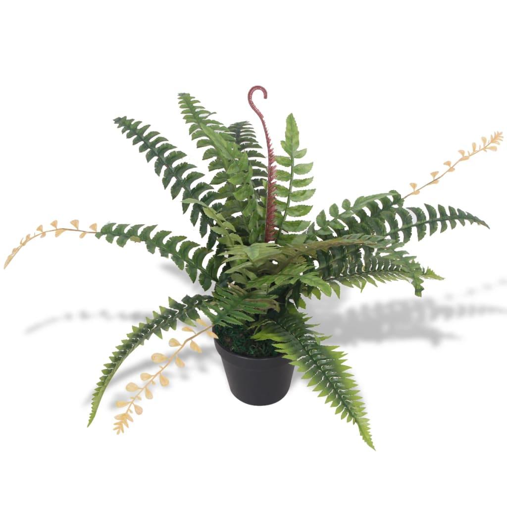 vidaXL Tekokasvi ruukulla saniainen 50 cm vihreä