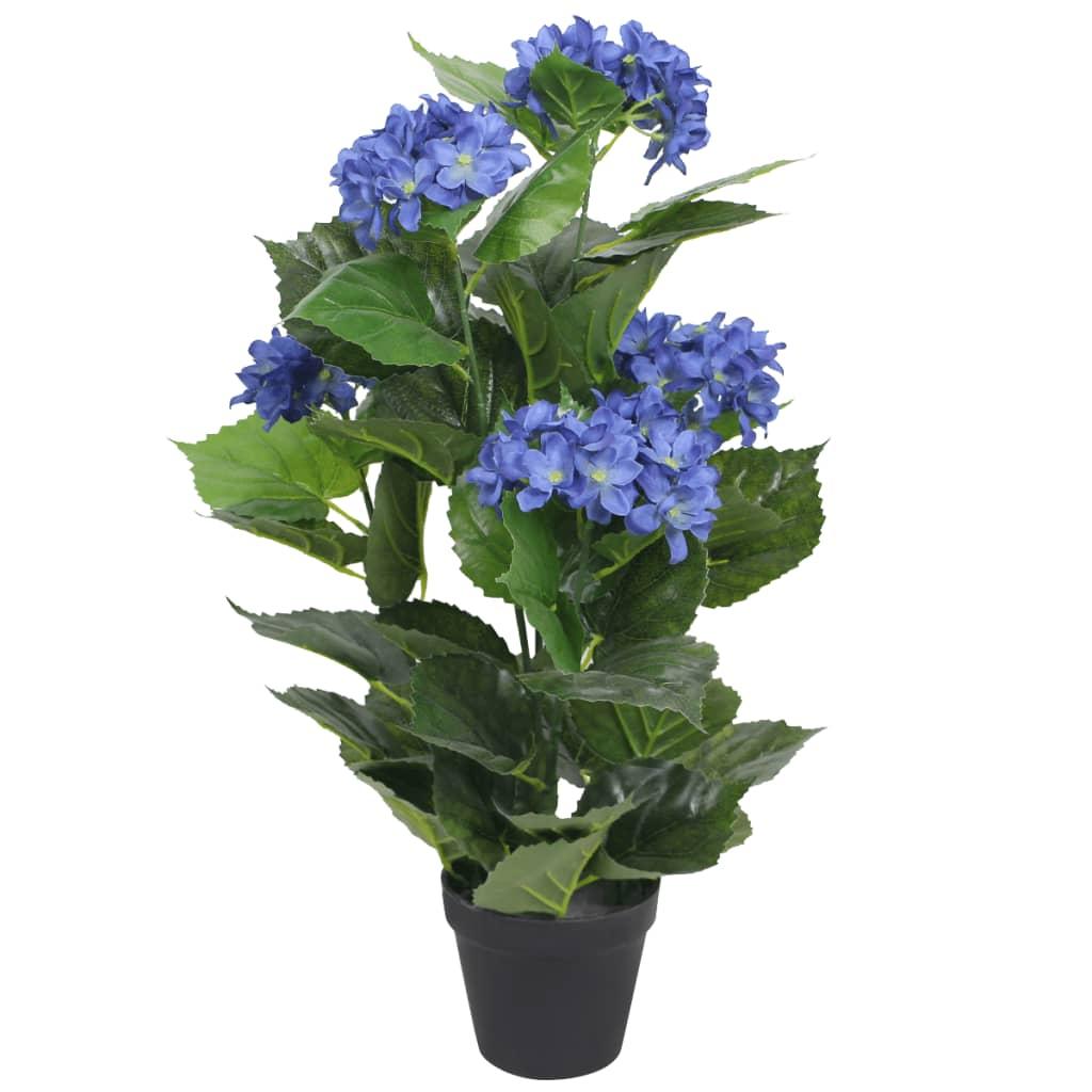 vidaXL Tekokukka ruukulla hortensia 60 cm sininen