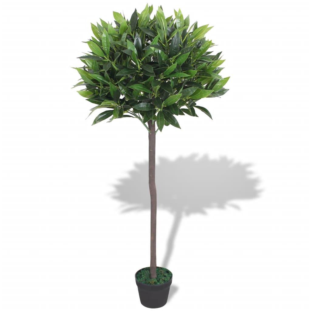 vidaXL Tekokasvi ruukulla laakeripuu 125 cm vihreä