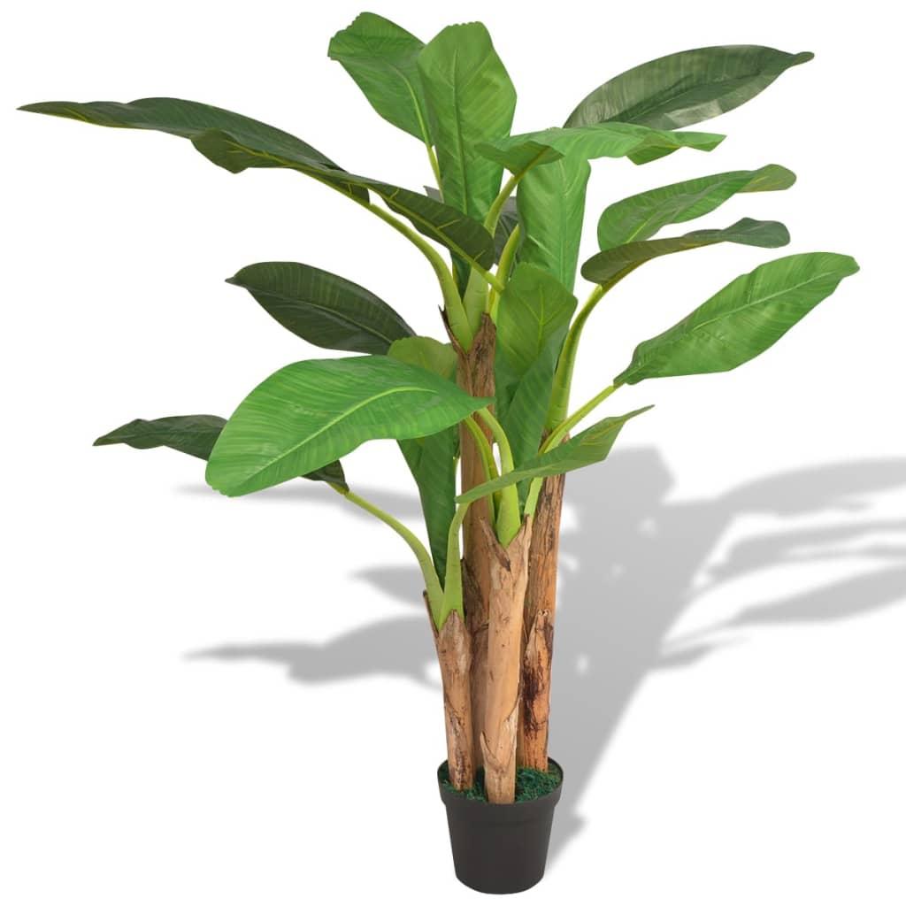 vidaXL Tekokasvi ruukulla banaanipuu 175 cm vihreä