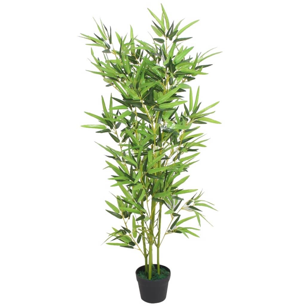 vidaXL Tekokasvi ruukulla bambu 120 cm vihreä