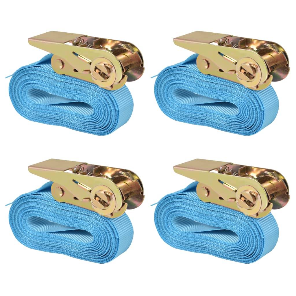 vidaXL Räikkä kuormaliinat 4 kpl 0,8 tonnia 6mx25mm Sininen