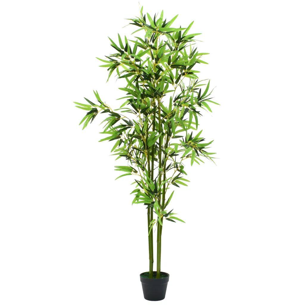 vidaXL Tekokasvi ruukulla bambu 175 cm vihreä