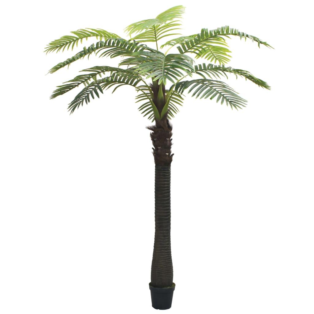 vidaXL Tekokasvi ruukulla palmupuu 310 cm vihreä