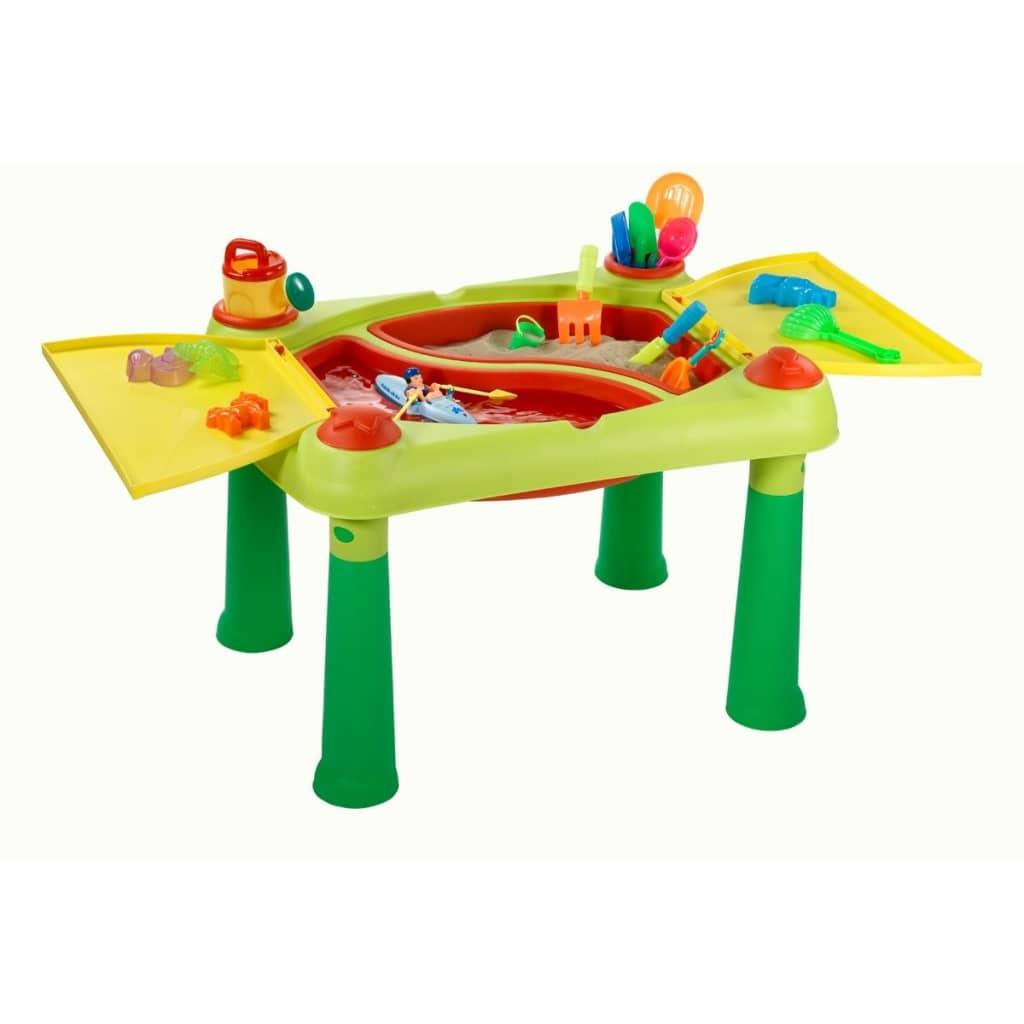 Keter Leikkipöytä Sand & Water Punainen ja keltainen 178668