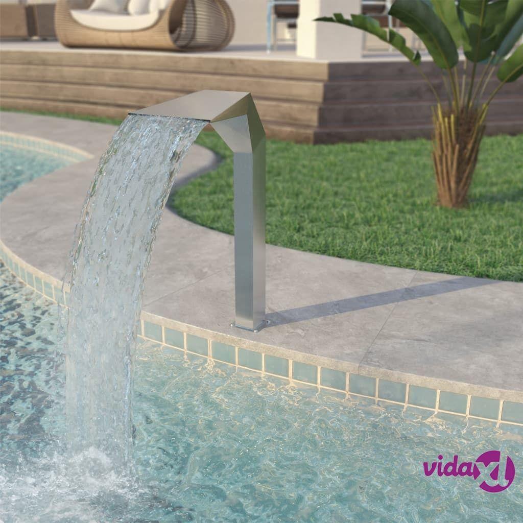vidaXL Uima-altaan suihkulähde Ruostumaton teräs 50x30x90 cm Hopea