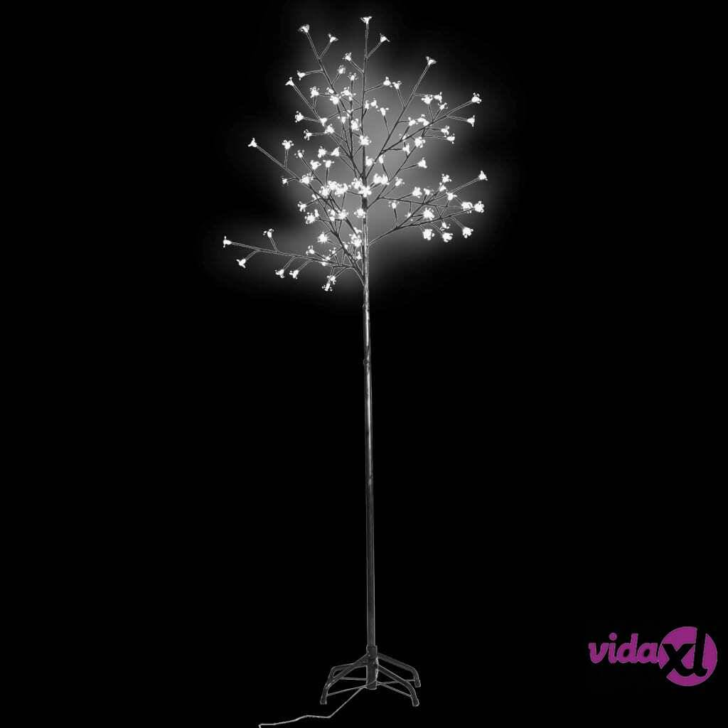 vidaXL LED Valopuu Vilkkuva Valkoinen Valo 210 cm