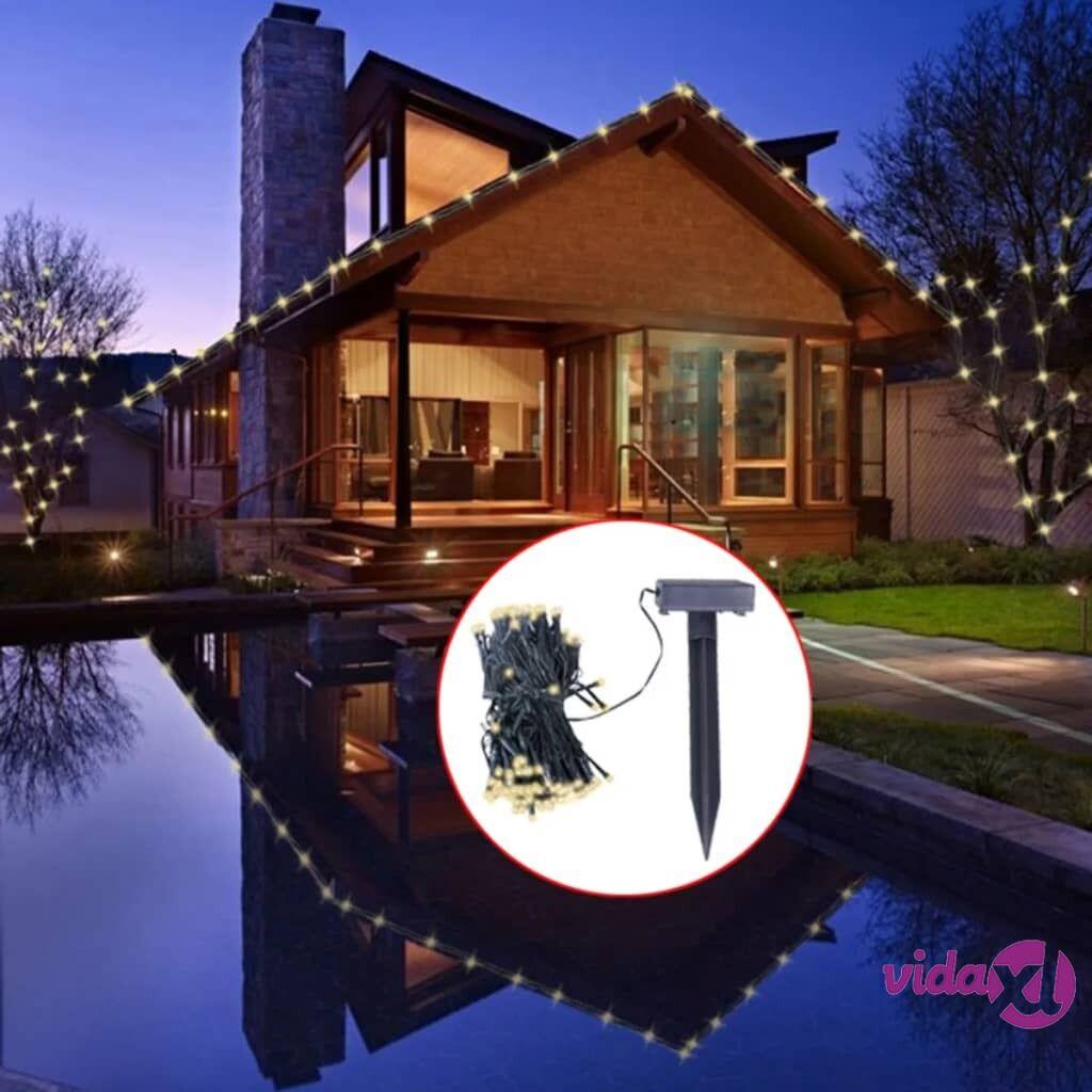 vidaXL LED Aurinkoenergian Valoketju Lämmin Valkoinen Joulukoriste