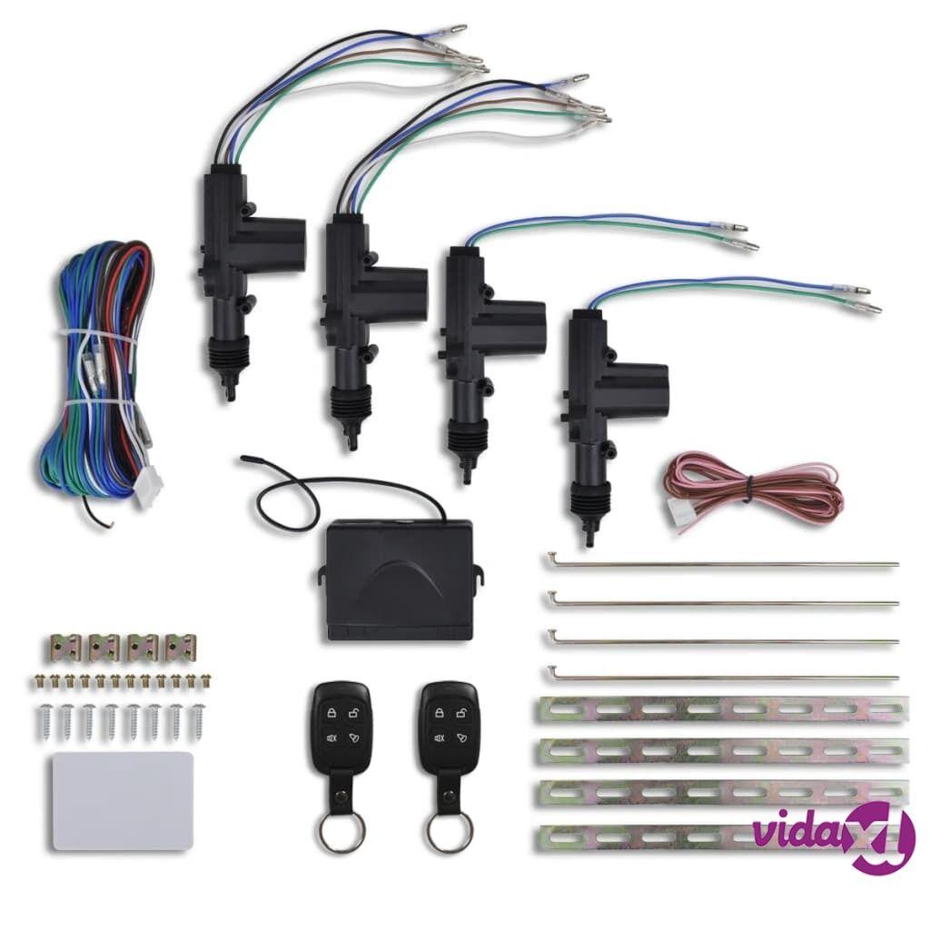Image of vidaXL Keskuslukitussarja Autoon 2x Kauko-ohjaus ja 4x Moottori 12 V