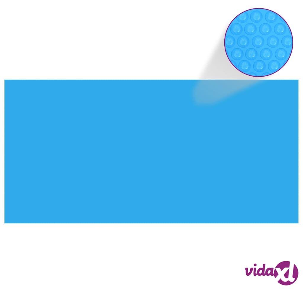 vidaXL Suorakaiteen Muotoinen Uima-altaan Suoja 450 x 220 cm PE Sininen