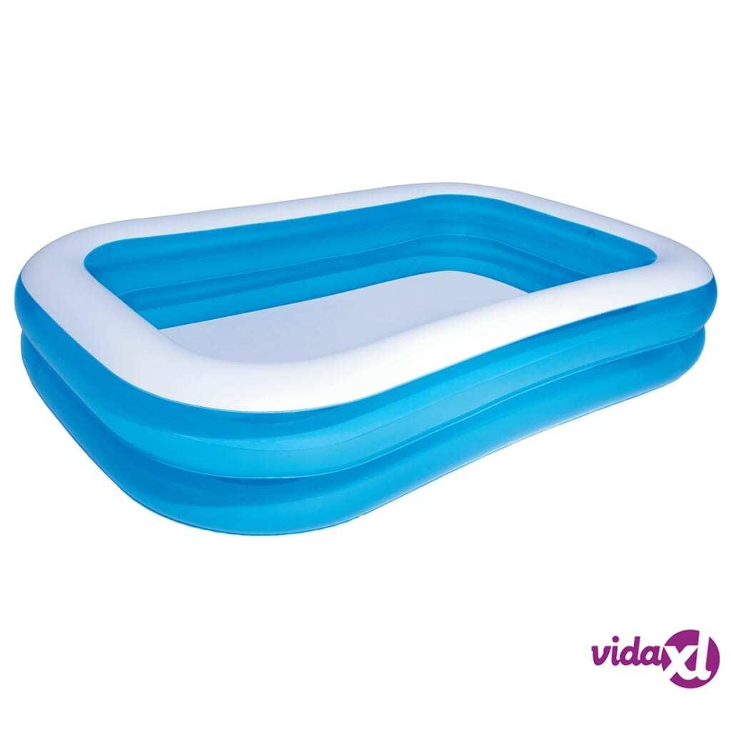 Bestway Täytettävä uima-allas sininen/valkoinen 262 x 175 x 51 cm 54006