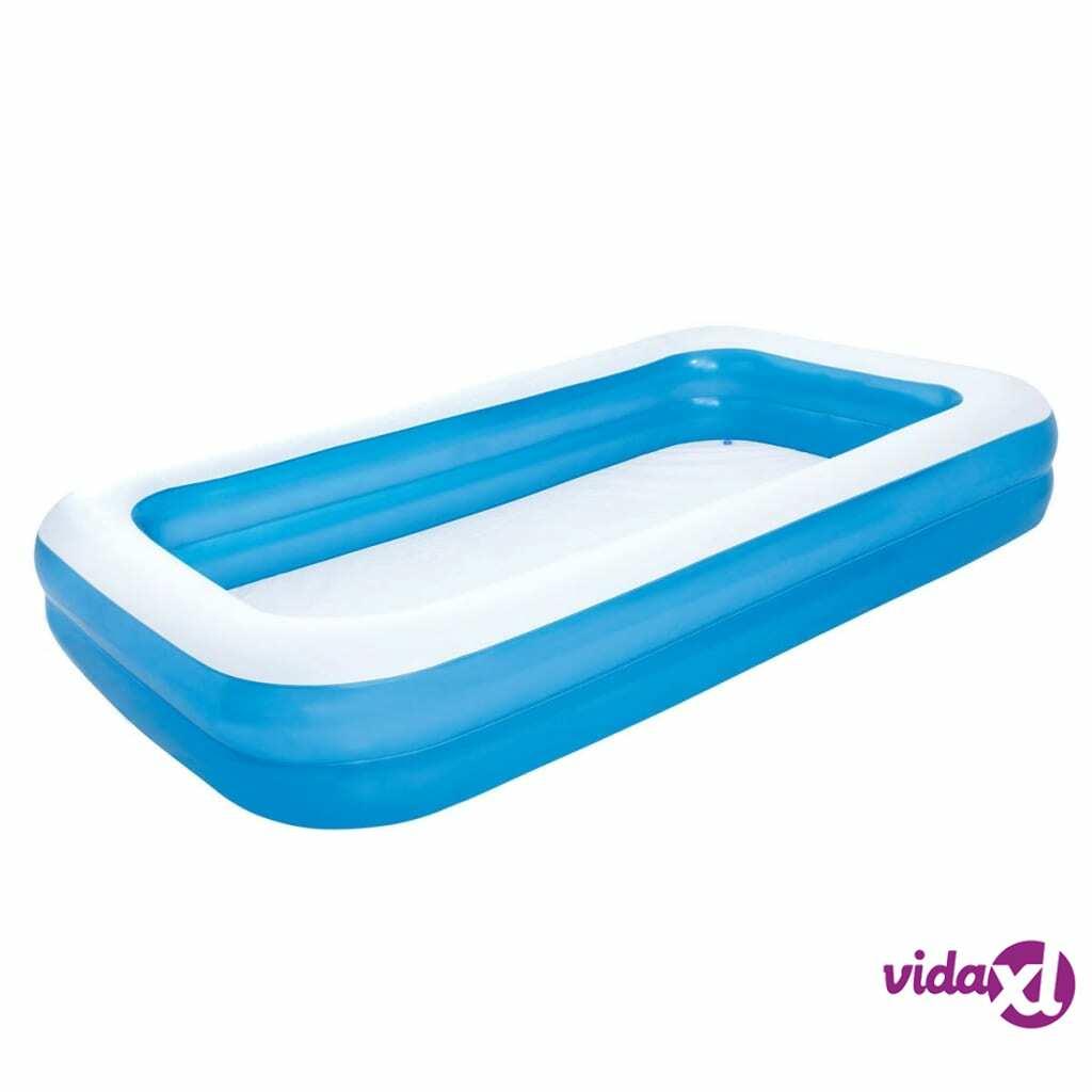 Bestway Täytettävä uima-allas sininen/valkoinen 305 x 183 x 46 cm 54009