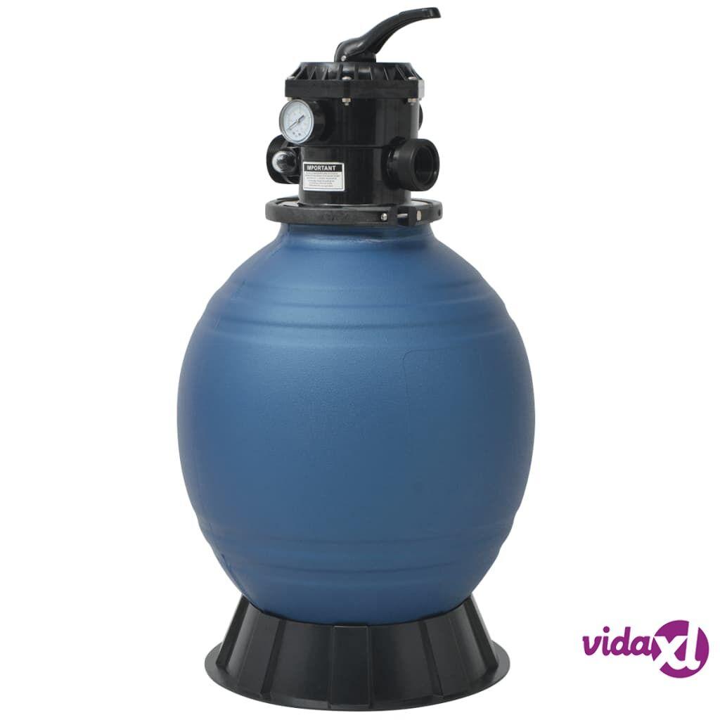 vidaXL Uima-altaan hiekkasuodatin 6-asento venttiilillä harmaa 460 mm