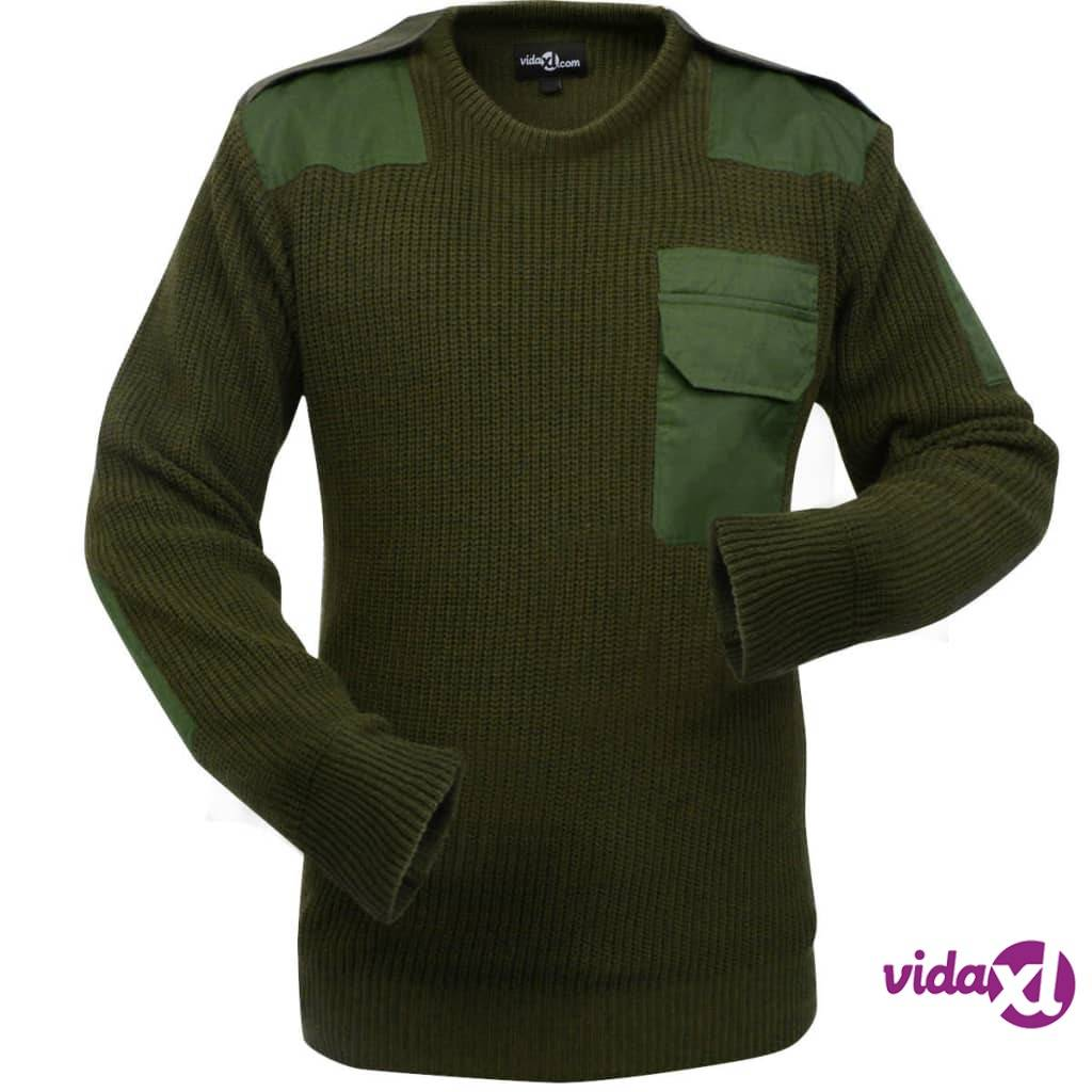 Image of vidaXL Miesten neulepusero Armeijan-vihreä koko XL