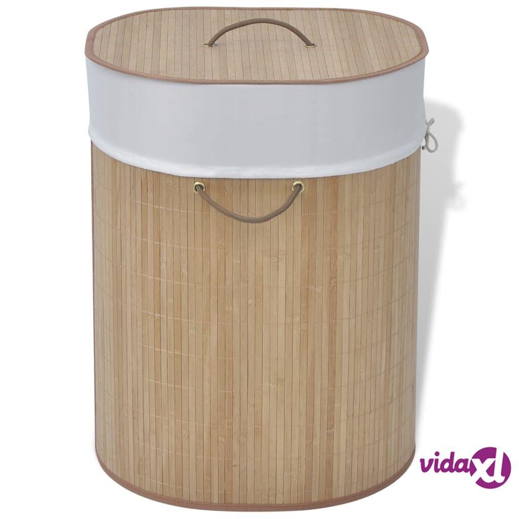 Image of vidaXL Bambu Pyykkikori Ovaali Luonnonväri