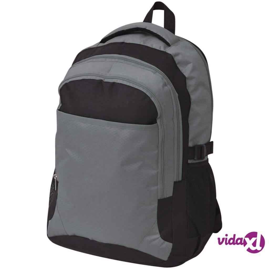 Image of vidaXL Koulureppu 40 L Musta ja harmaa