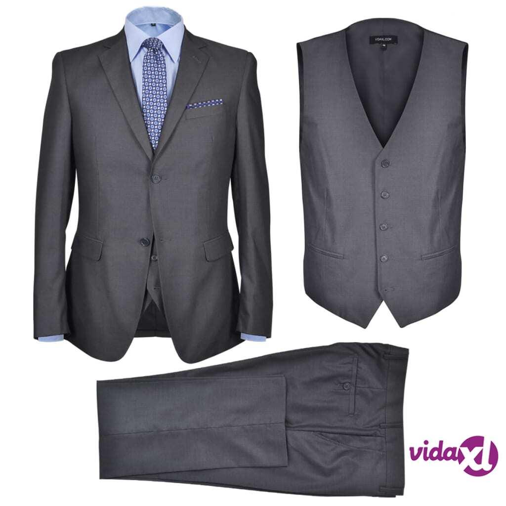 Image of vidaXL Miesten puku 3-osainen koko 56 antrasiitinharmaa