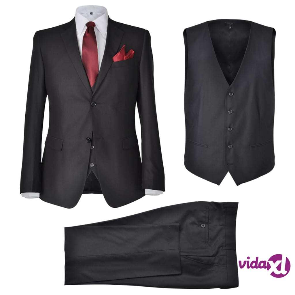 Image of vidaXL Miesten Kolmiosainen Business-puku Koko 46 Musta
