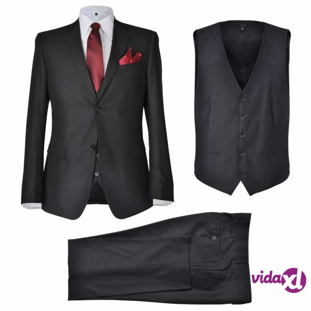 Image of vidaXL Miesten Kolmiosainen Business-puku Koko 52 Musta