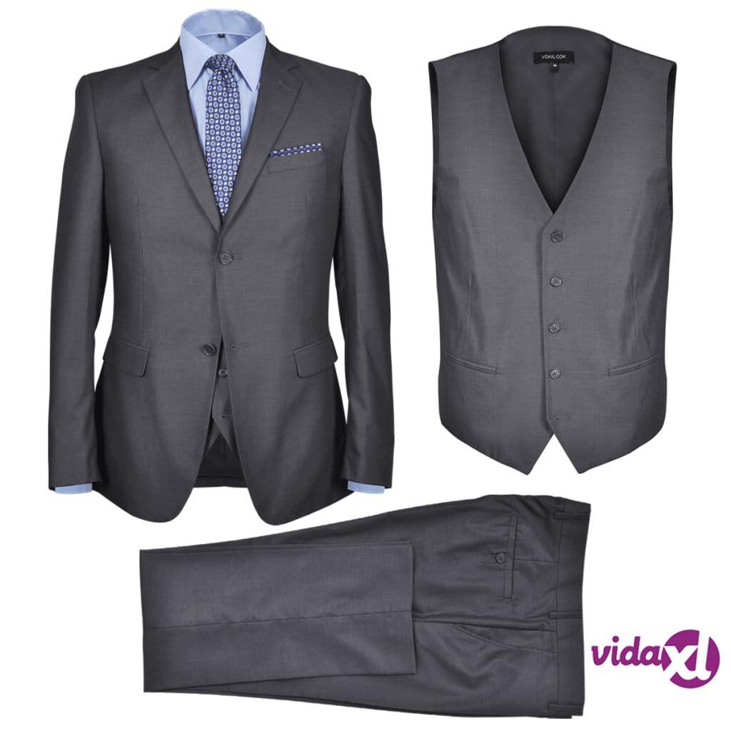 Image of vidaXL Miesten Kolmiosainen Business-puku Koko 46 Antrasiitinharmaa