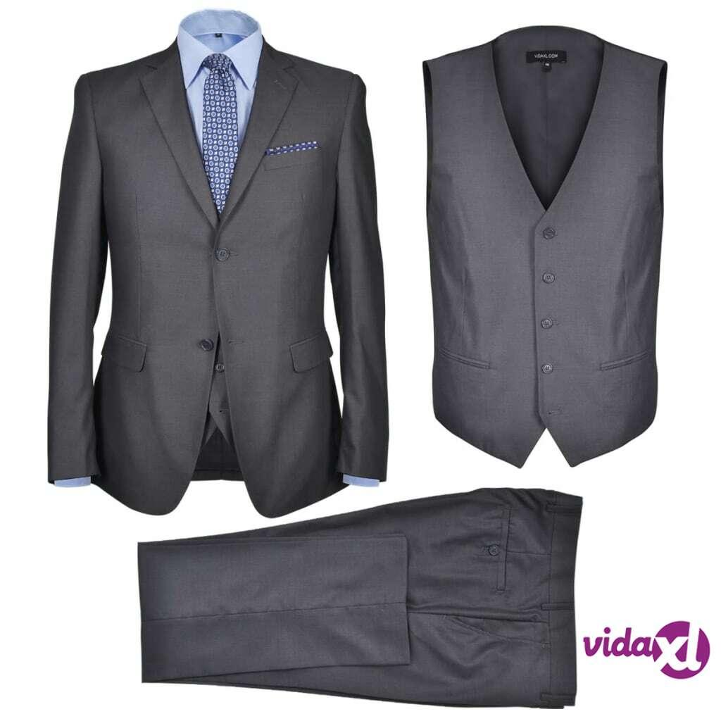 Image of vidaXL Miesten Kolmiosainen Business-puku Koko 48 Antrasiitinharmaa