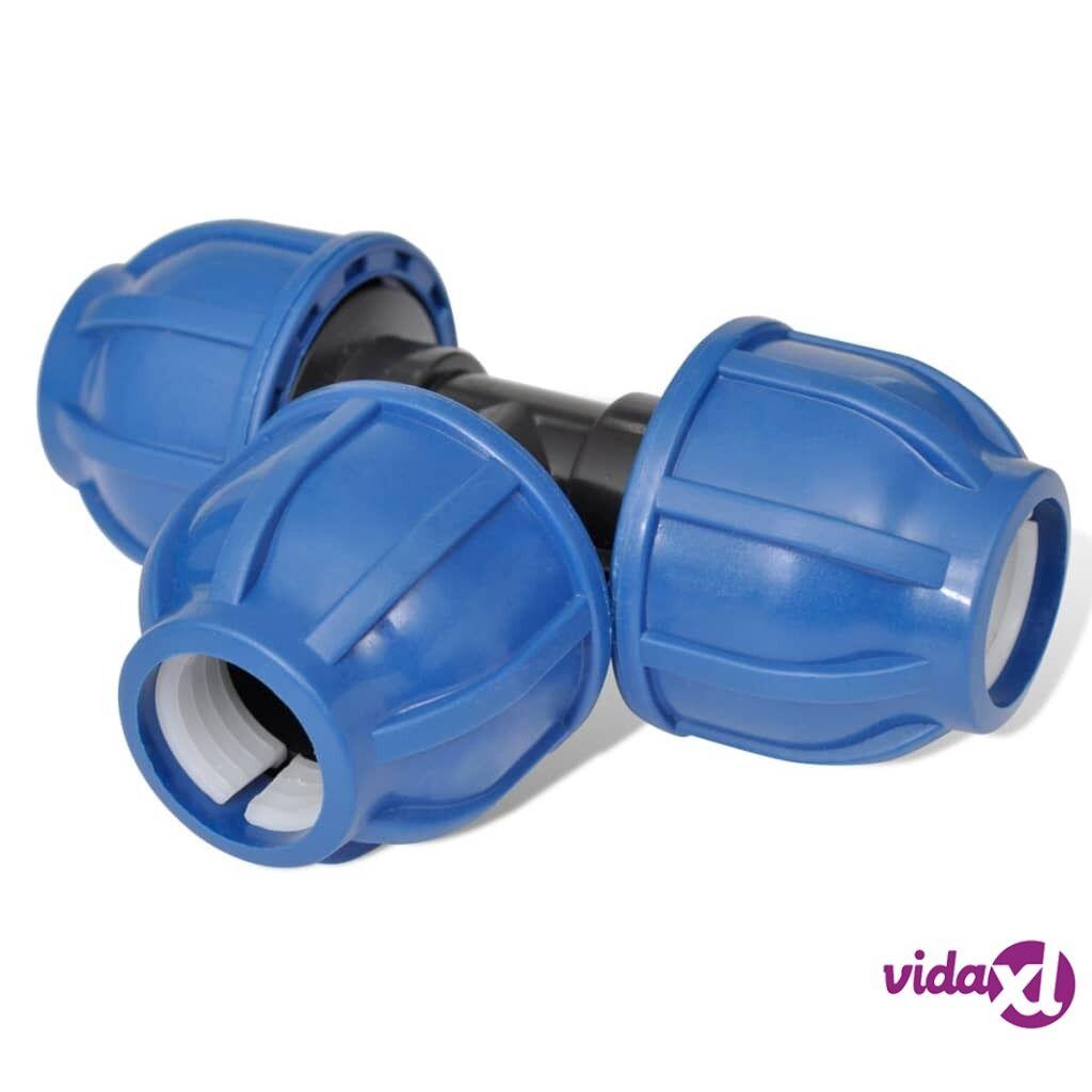 Image of vidaXL PE T-letkuliitin 16 bar 20mm 4kpl