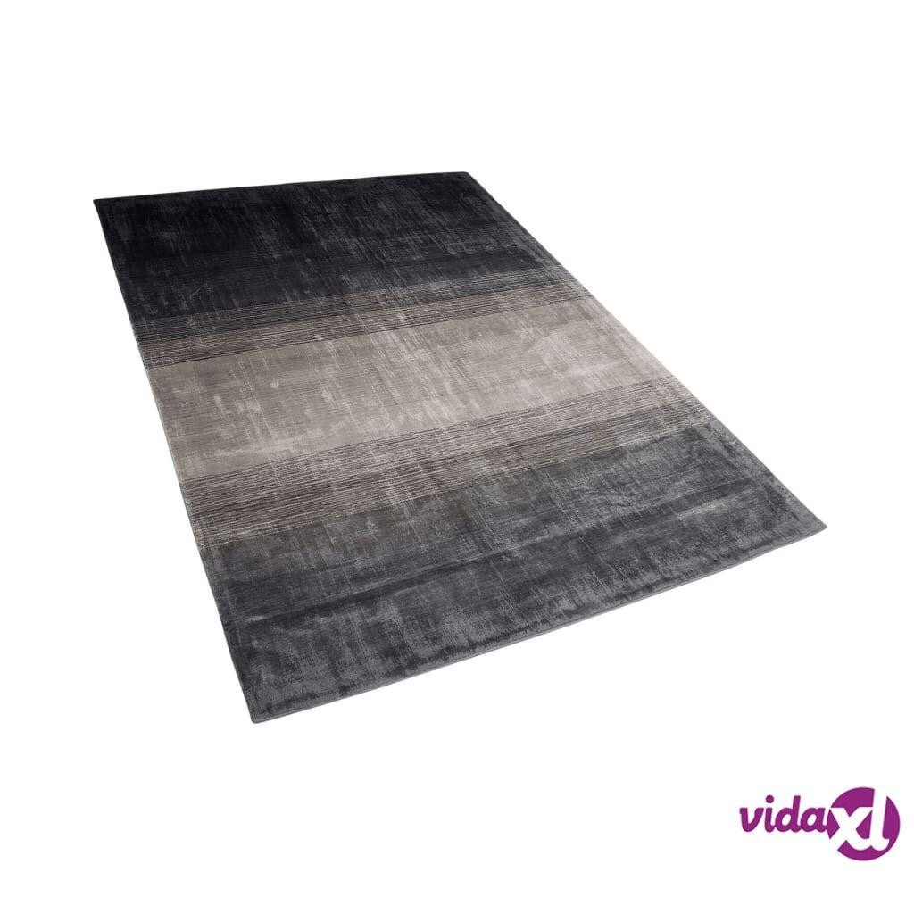 Image of Beliani Matto 140x200 cm harmaa ja musta ERCIS