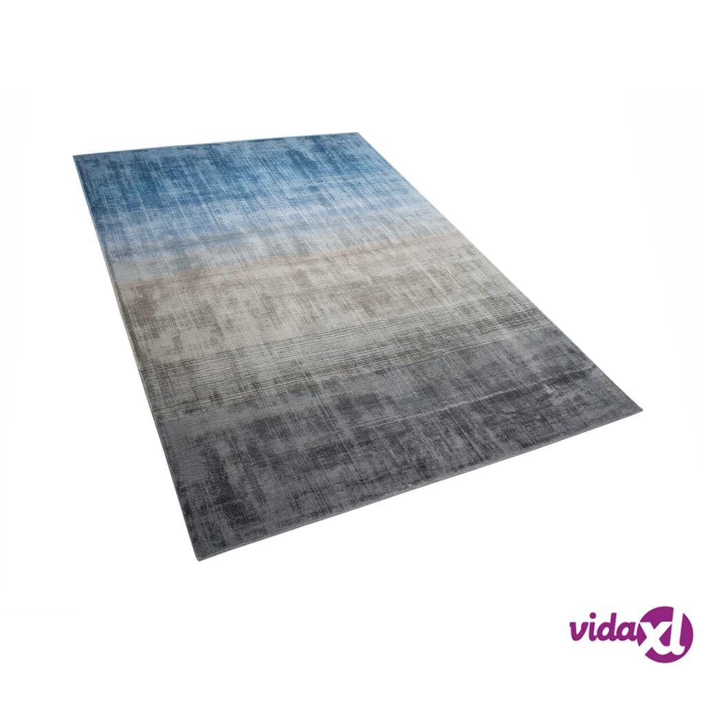 Image of Beliani Matto 140x200 cm harmaa ja sininen ERCIS