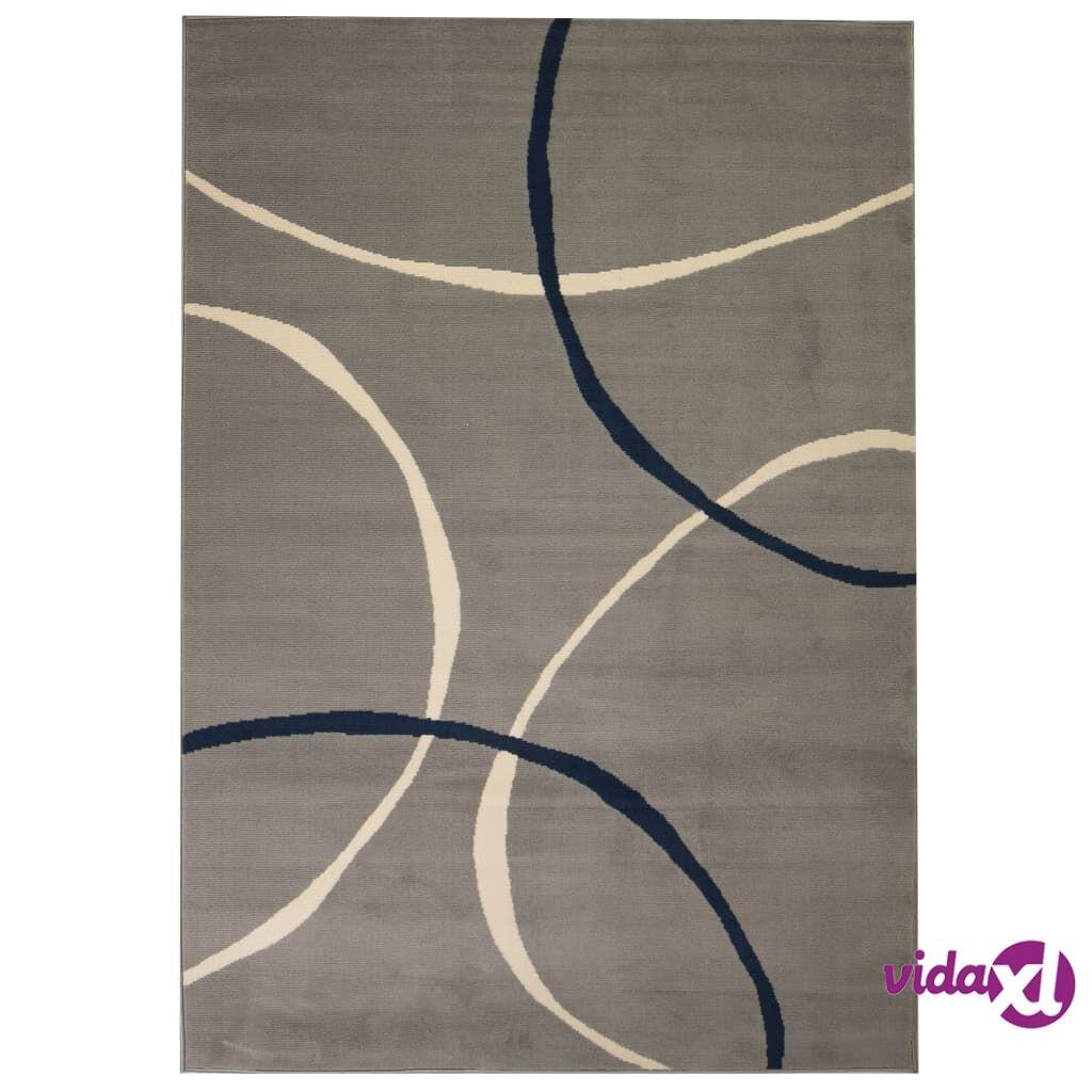 Image of vidaXL Moderni matto ympyräkuvio 120x170 cm harmaa