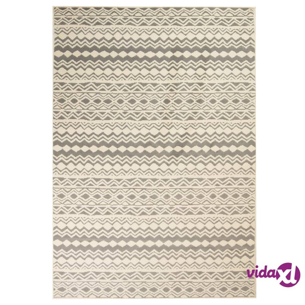 Image of vidaXL Moderni matto perinteinen kuvio 120x170 cm beige/harmaa